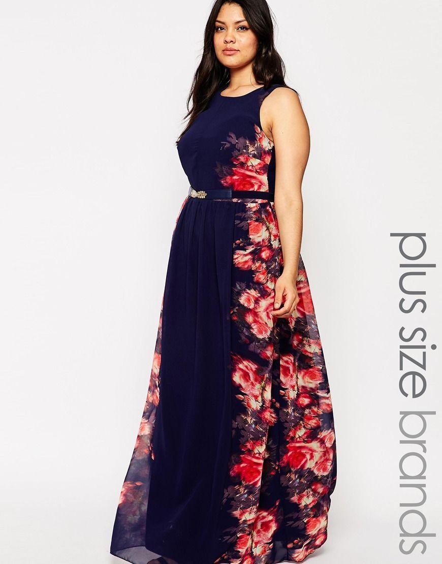 Little Mistress Plus Maxi Dress With Floral Panels At Asos Com Maxi Dress Maxi Dress Wedding Navy Plus Size Dresses [ 1110 x 870 Pixel ]