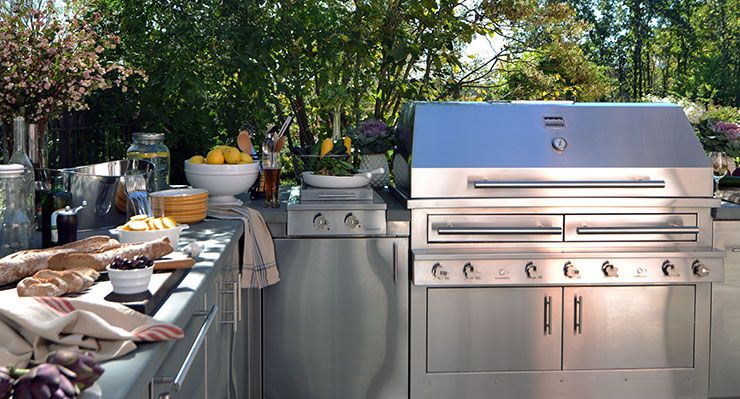Builtin Outdoor Grill  Kalamazoo  Dwell Expo Selects Classy Outdoor Kitchen Charcoal Grill Inspiration
