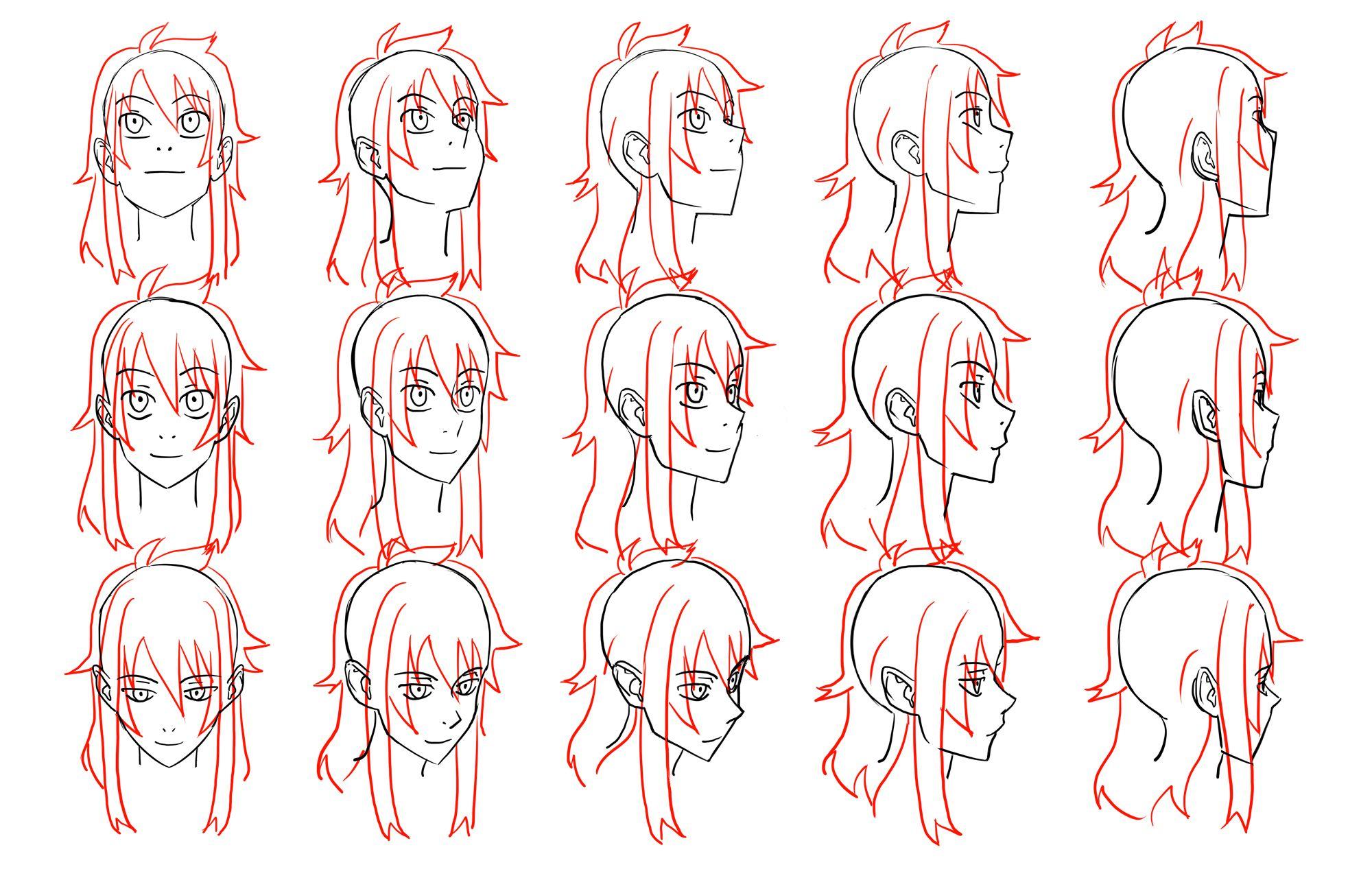 anime head reference image Anime Head Angles