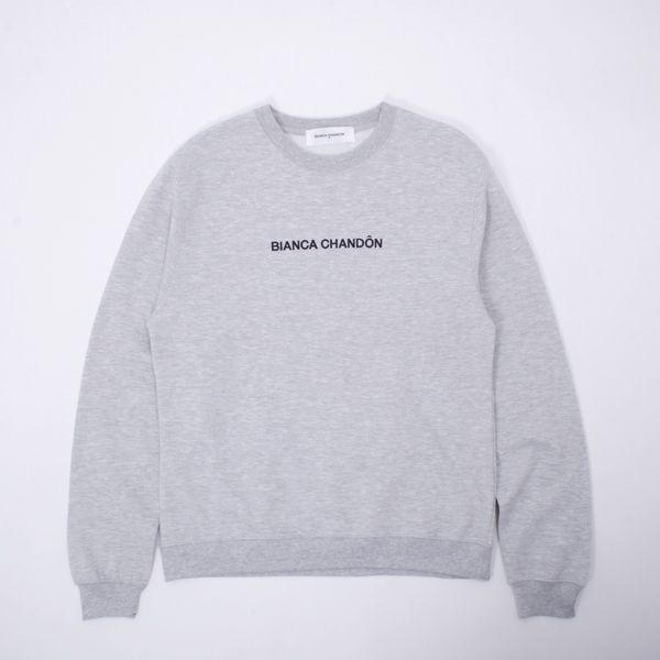 Bianca Chandon Logotype Embroidered Crewneck Sweatshirt - A must ...