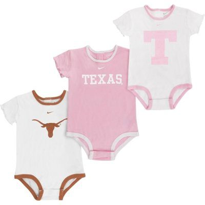 e4534d913bbb Nike Texas Longhorns Newborn Girls 3-Pack Creeper Set