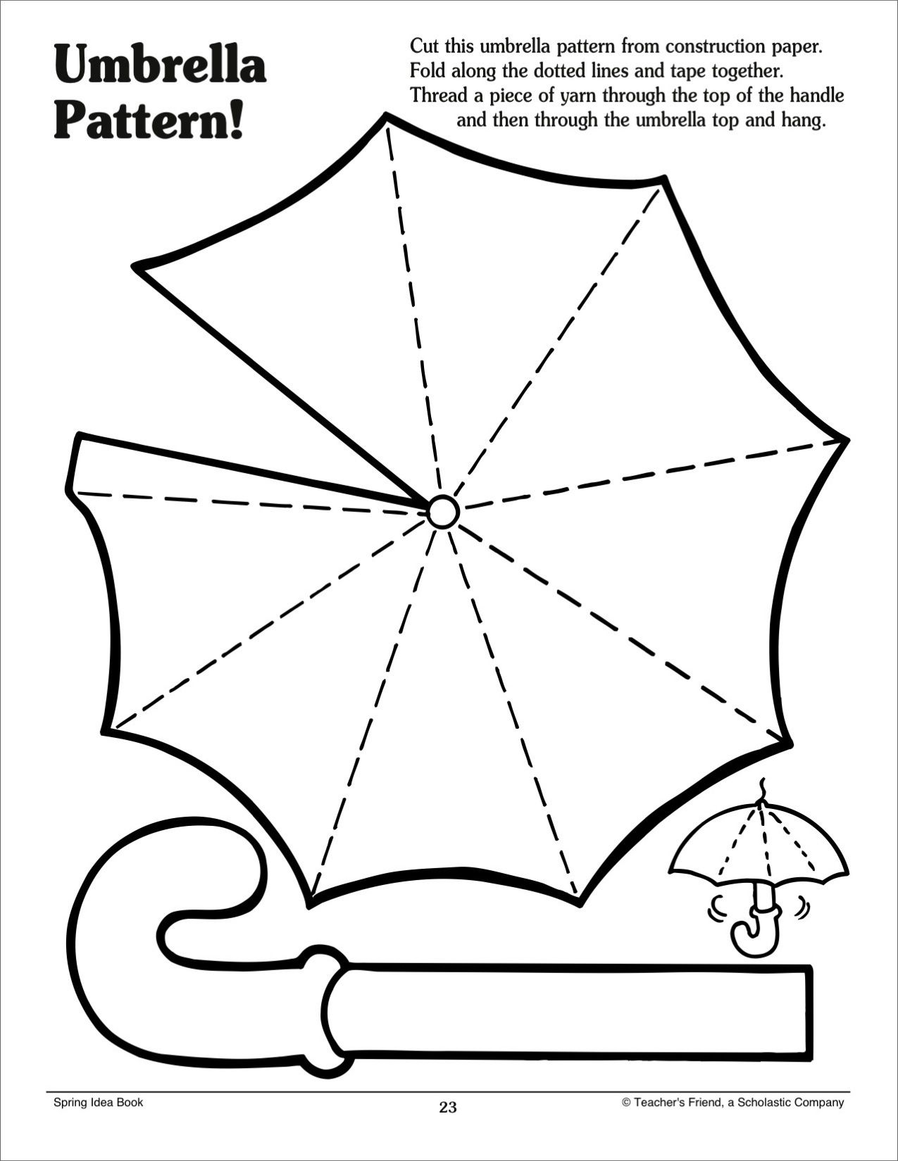 picture about Umbrella Pattern Printable identify Umbrella Routine - Scholastic Printables Templates