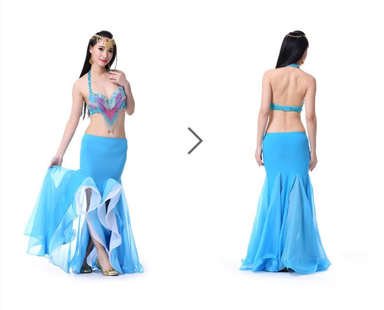 36a6e5685 Nuevo 2015 mujeres forman Belly Dance falda del traje de sirena de ...