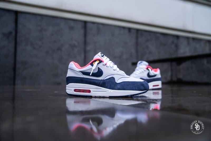 Nike Air Max 1 Essential Midnight Navy On Feet Sneaker