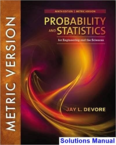 Solutions Manual For Probability And Statistics For