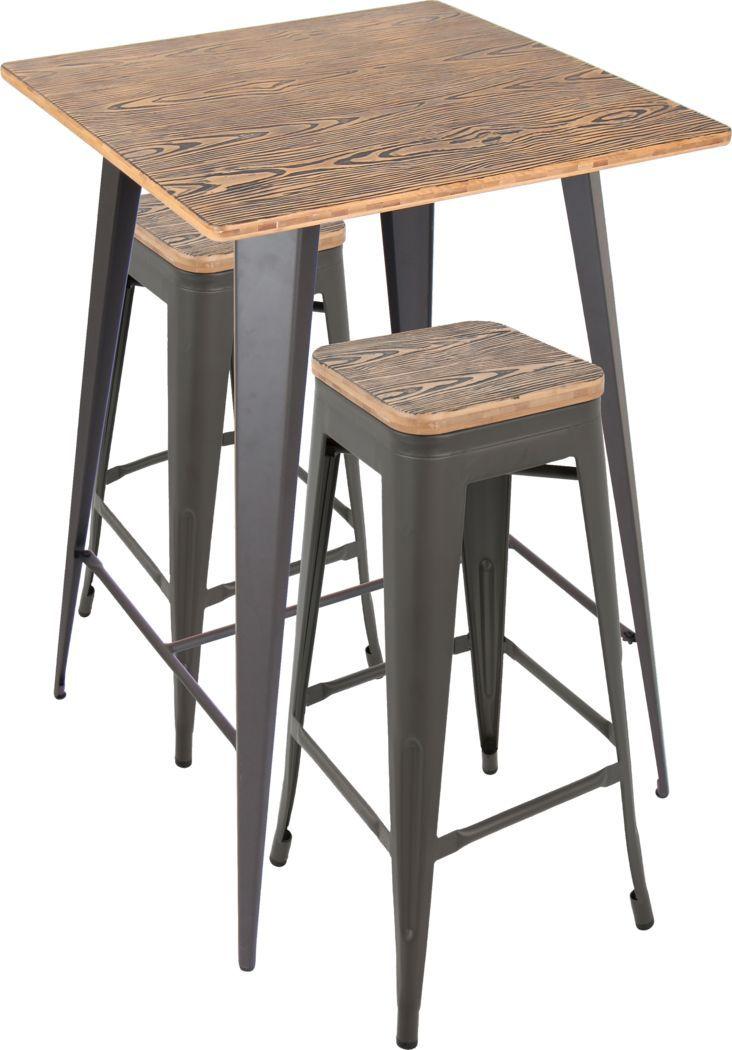 Aldersyde Brown 3 Pc Bar Height Table Set In 2020 Bar Height Table Pub Set Dining Table Setting
