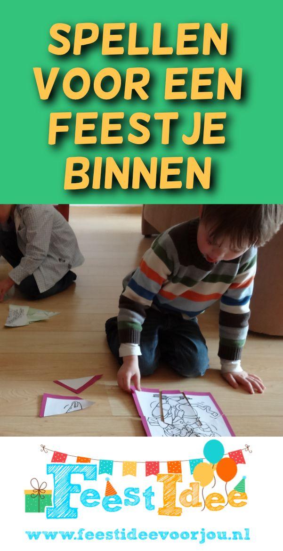 Spiksplinternieuw Spellen en ideeën voor een kinderfeestje binnen. | Kinderfeestje DT-75