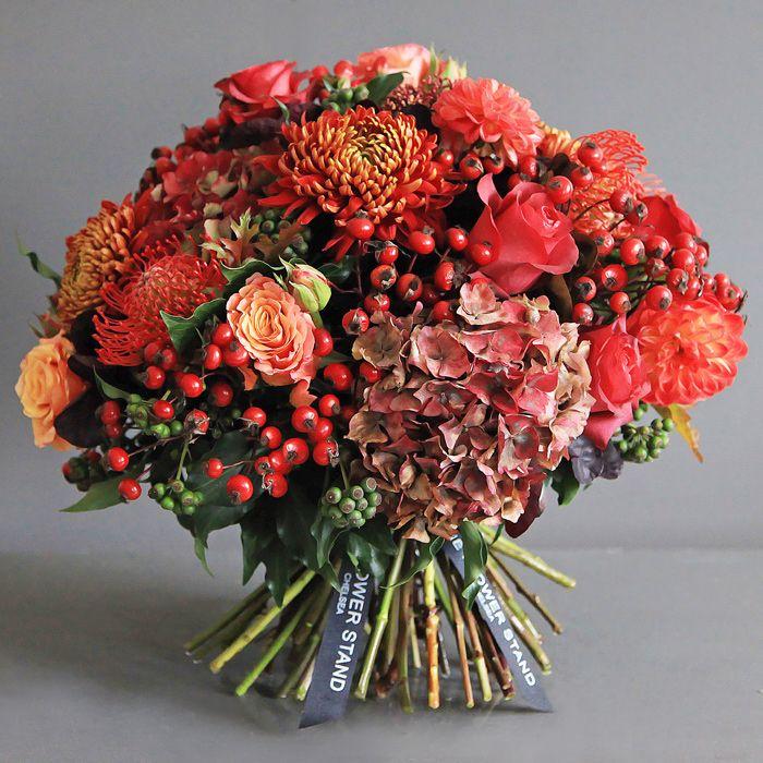Luxury Autumnal Hydrangea Bouquet Same Day Flower Delivery London Luxury Flower Arrangement Luxury Flowers Luxury Bouquet