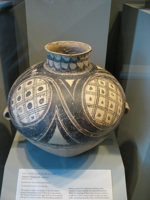 Funerary Storage Jar Pan Shan Type China Neolithic