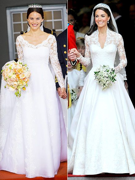 See How Carl Philip And Sofia S Big Day Compares To Will And Kate S Royal Wedding Dress Wedding Dresses Princess Wedding Dresses