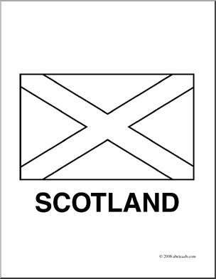 Flag Of Scotland Coloring Page