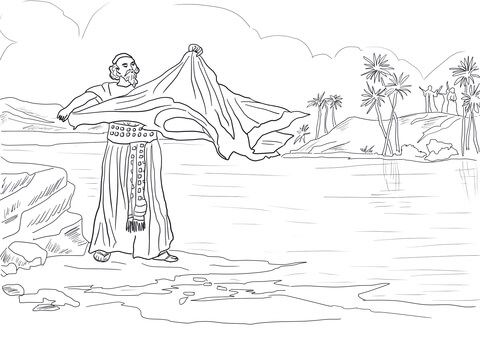 Elijah S Mantle Coloring Page From Prophet Elijah Category Select