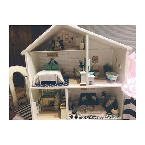 ikea lillabo dollshouse blythe. IKEA Flisat Dollhouse Makeover Photo By @mommytomissa \u2022 51 Likes Ikea Lillabo Dollshouse Blythe