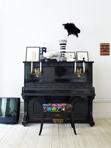 Perhaps I should paint the piano, give the bench a padded cover, and add some sconces.