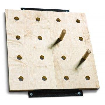 "Peg Board Climbers (30"" x 30"")"
