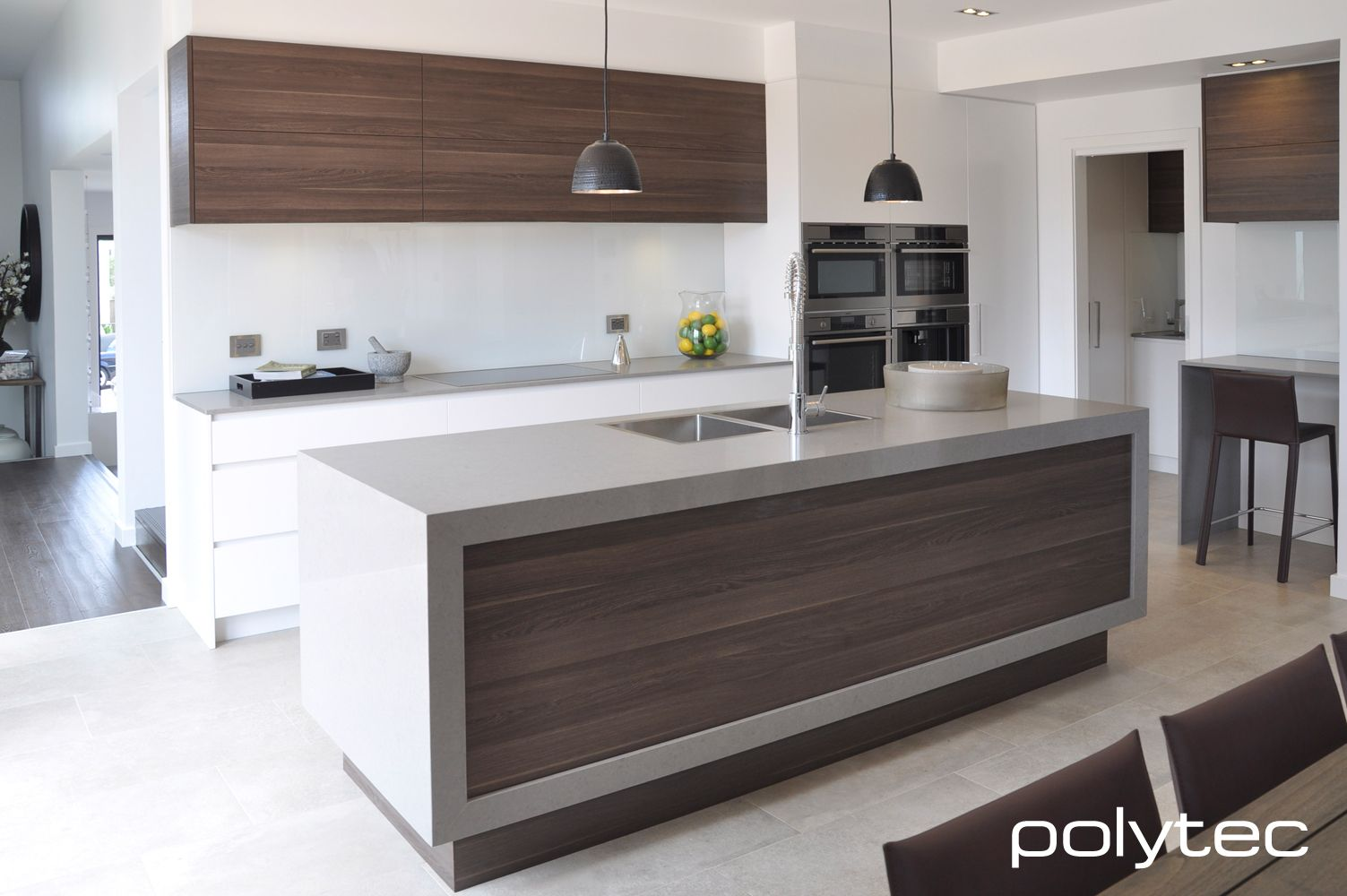 Polytec Doors and panels in Melamine Cafe Oak & Polytec Doors and panels in Melamine Cafe Oak | Arch (Kitchen Ideas ...