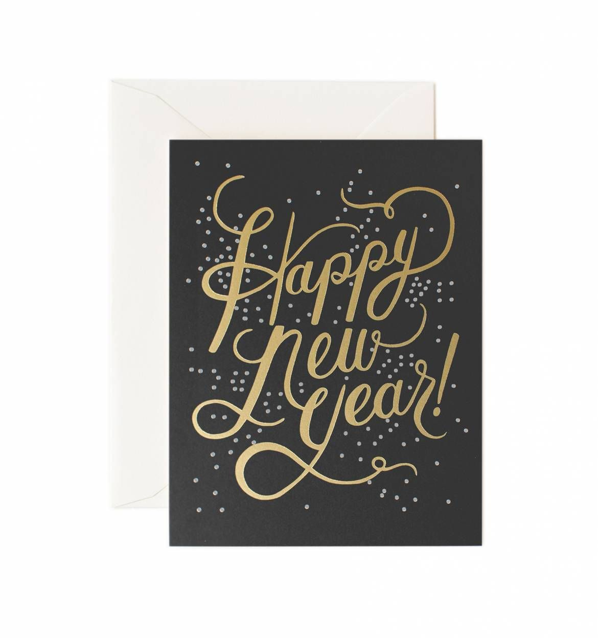 Shimmering New Year Available as a Single Folded Card or a