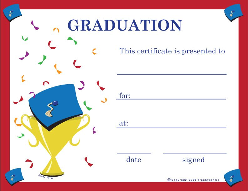 Graduation Certificate Template Certify Award Certificates