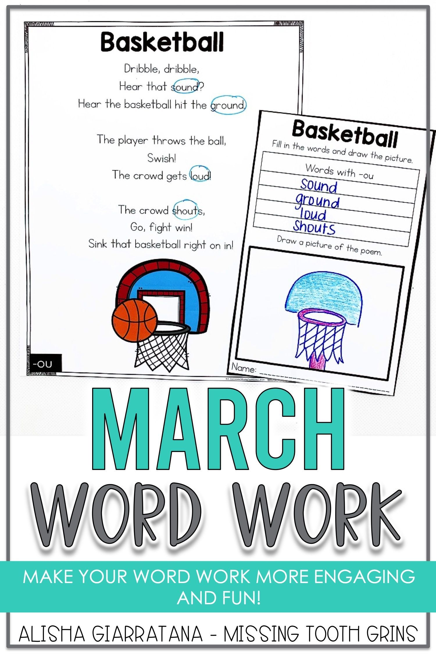 Word Work Center March In