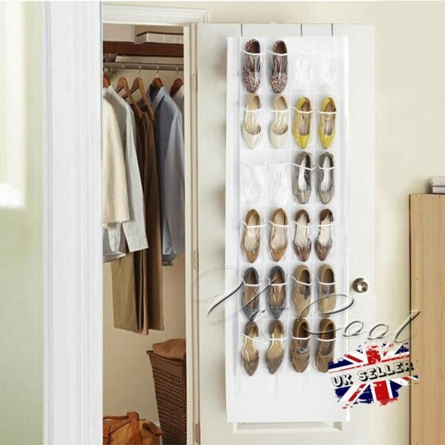 hanging door closet organizer.  Hanging UK 24 Pockets Footful Clear Hanging Storage Shoes Shelf Door Closet  Organizer And O