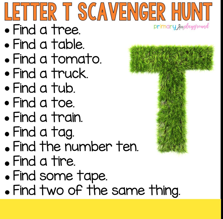 Pin On Abc Scavenger Hunt