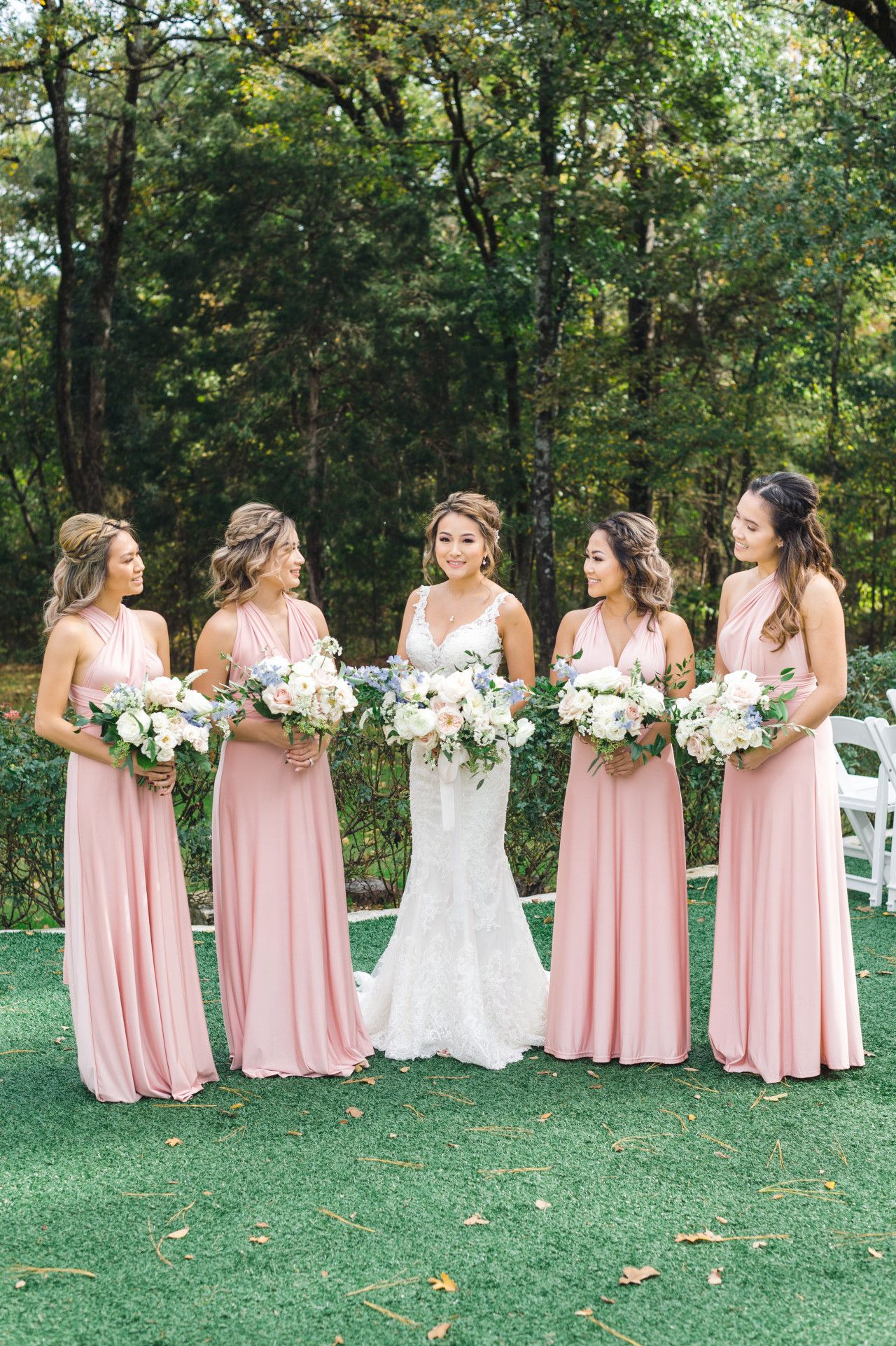 Poetry Hall Pastel Bridesmaid Dresses Pastel Bridesmaids Blush