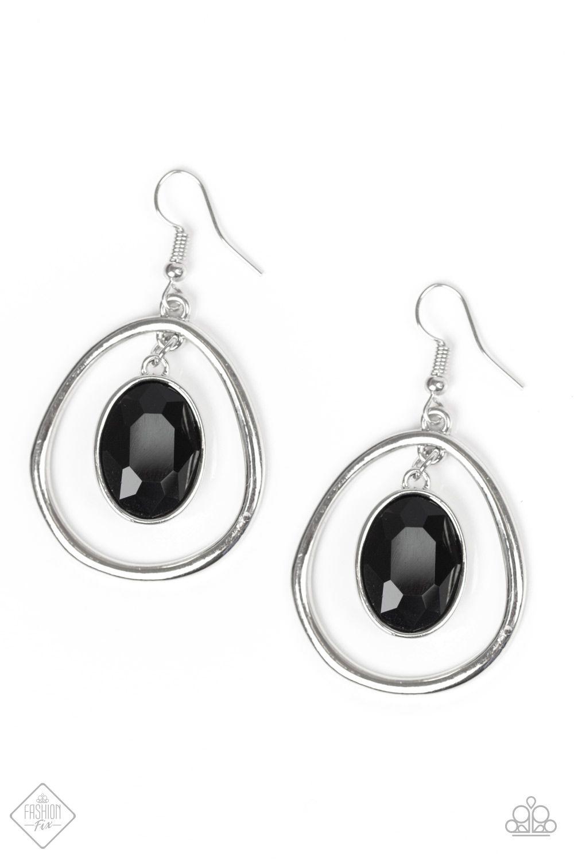 Make NOIR Mistake Black onyx earrings