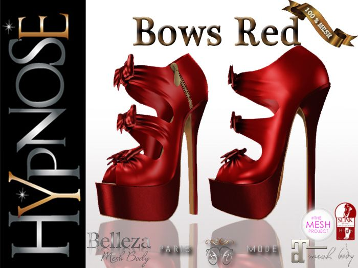 HYPNOSE - SHOES BOWS RED