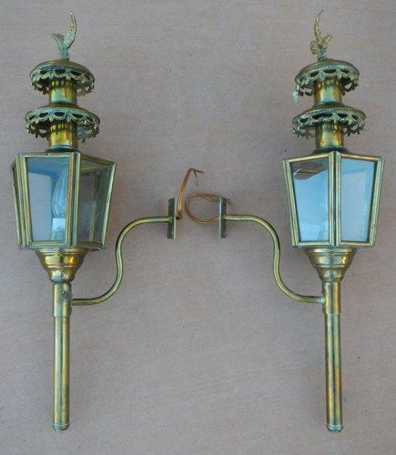 Pottery Barn Carriage Lamp: Vintage Coach/Carriage Lamps - Set Of 2