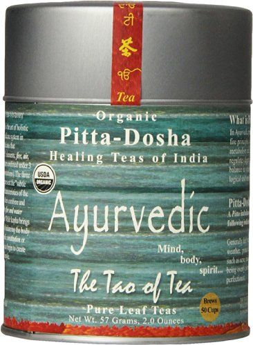 The Tao Of Tea Ayurvedic Tea Pitta Certified Organic 2 Ounce Tin