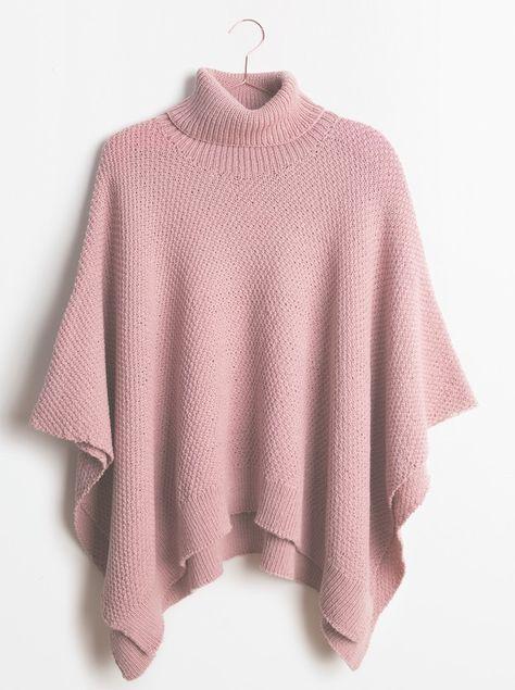 poncho a tricoter
