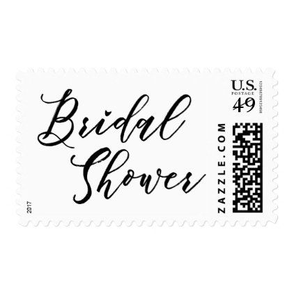 bridal shower hand lettered script font on white postage bridal party gifts wedding ideas diy custom