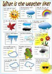 english worksheet weather seasons school weather worksheets education english english. Black Bedroom Furniture Sets. Home Design Ideas