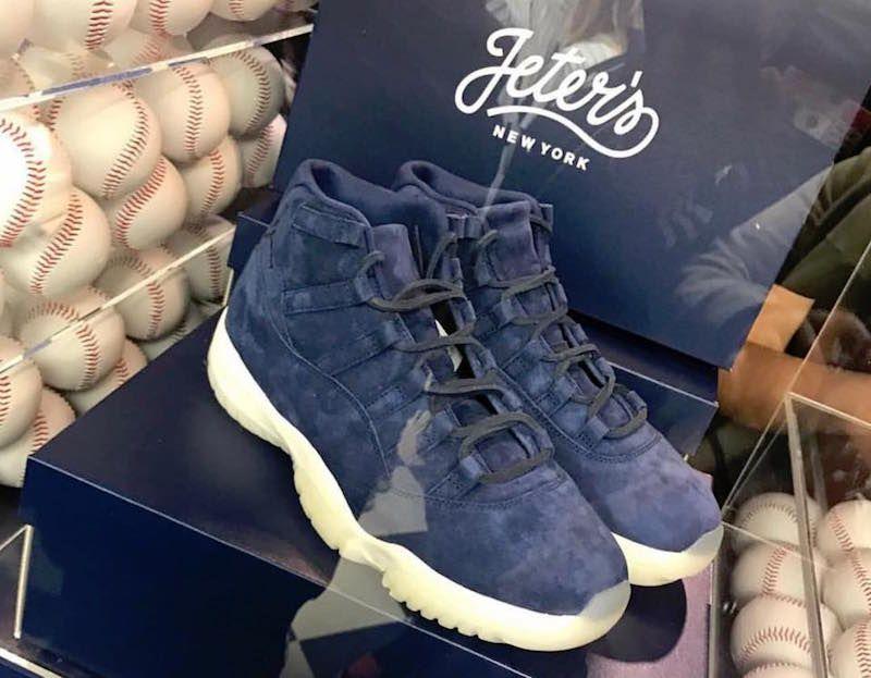 4386166e87a Air Jordan 11 Navy Suede Derek Jeter | sneakerhead | Jordans, Air ...