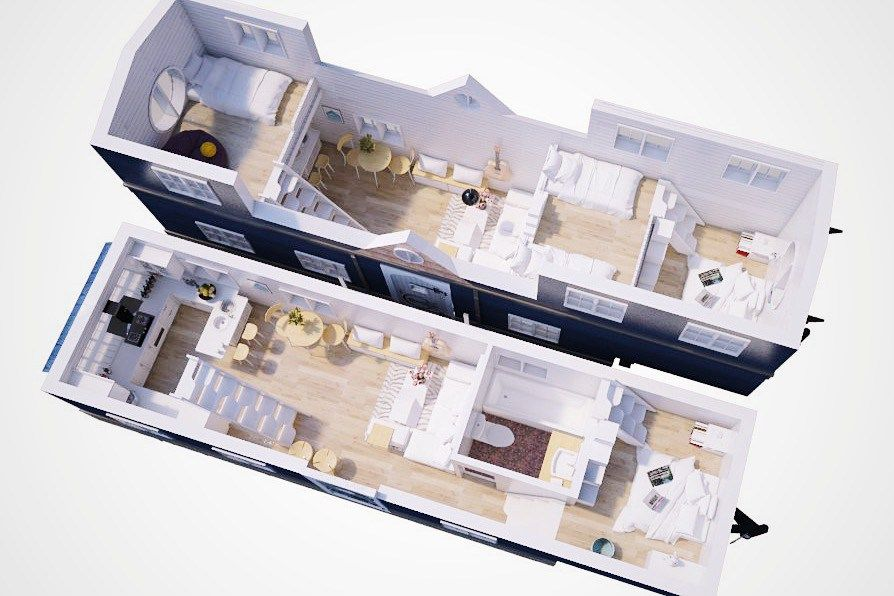 350 Sq Ft Tiny House Floorpan Three Bedrooms For Large