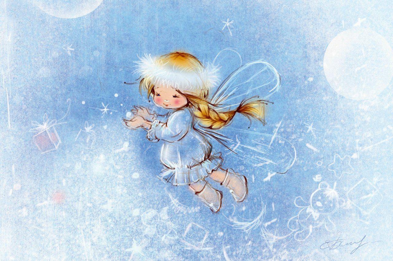картинки зима ангелочки человек