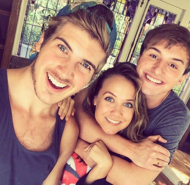 Joey Graceffa with Lucas and Jenny.