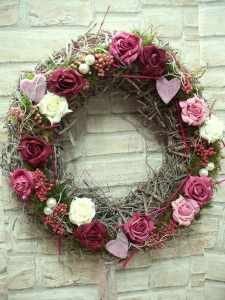 Türkranz Kaufen türkranz xl rosentraum in rosa shabby landhaus die mit den