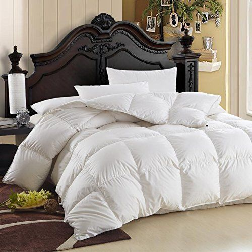 Luxurious Queen Size Siberian Goose Down Comforter 600 Thread