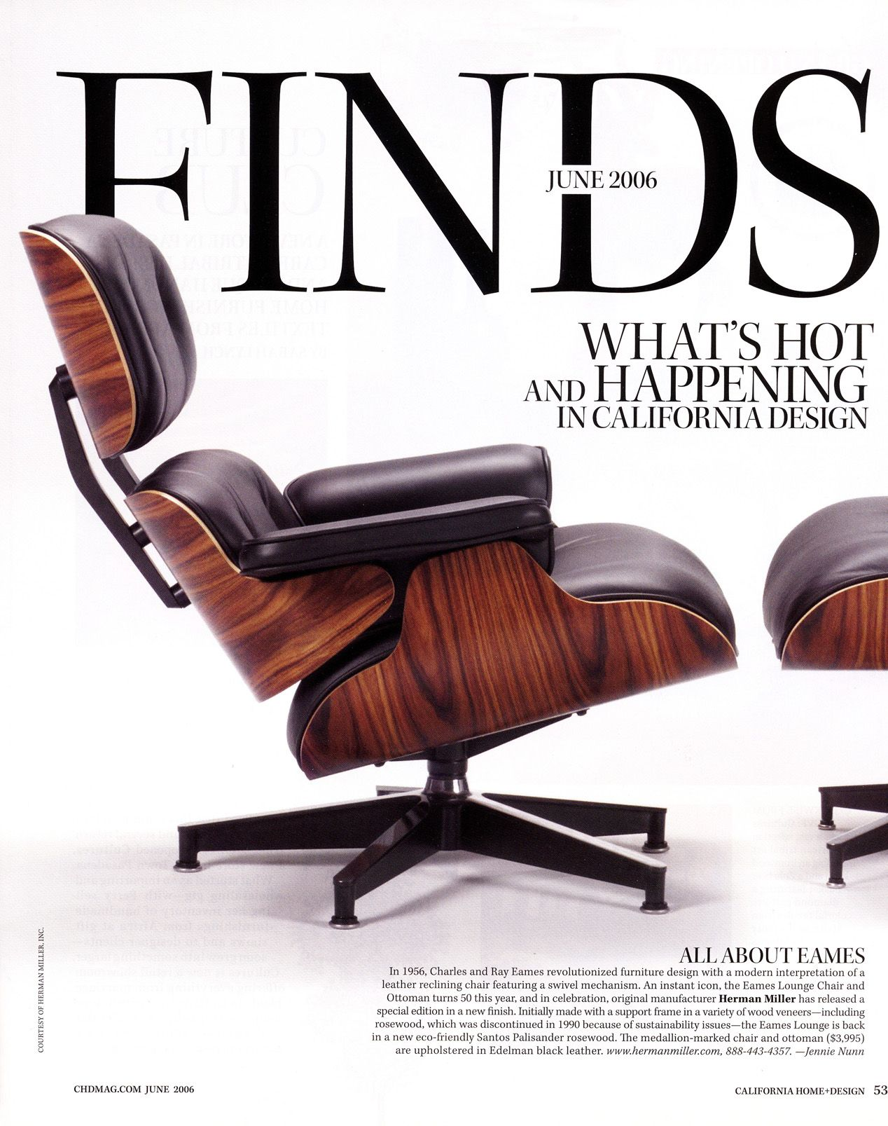 Original eames chair -  An Instant Icon The Eames Lounge Chair And Ottoman Turns 50 This Year