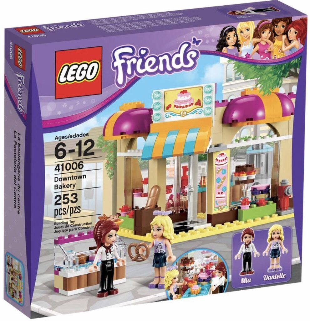 A Lego Friends Set 41006 Downtown Bakery 100 Complete