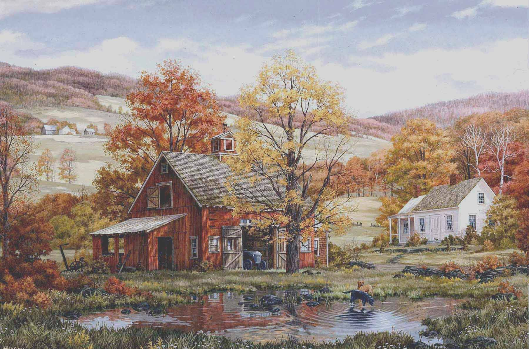 Artist Fred Swan. Home In