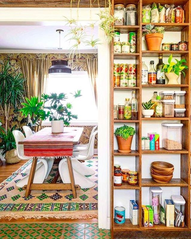Hippie Kitchen Decor: Pantry Goals: The Jungalow™ (@thejungalow) On Instagram