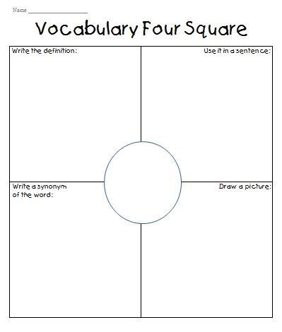 This week I tried something new with the vocabulary in the