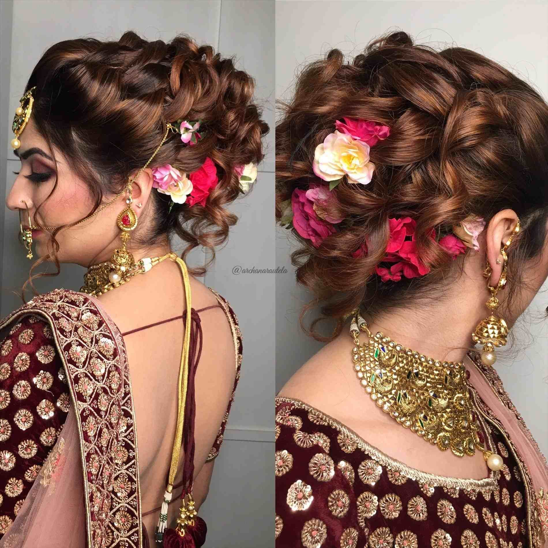 Half Up Half Down Wedding Hair For Bride Or Mother Of The Bride Flower Girl Hair Style W Indian Wedding Hairstyles Indian Bridal Hairstyles Indian Hairstyles