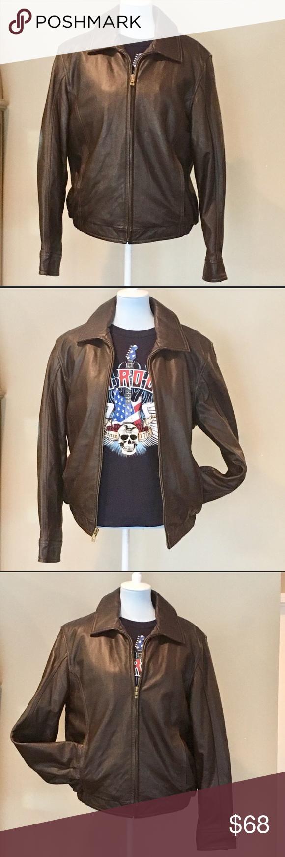Wilson thinsulate lining leather bomber jacket
