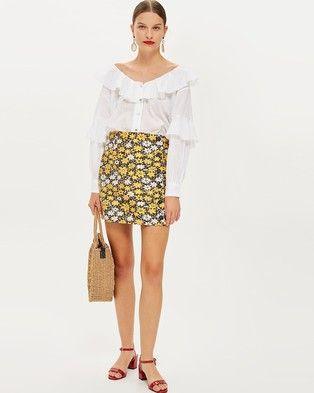 dc1c91eda1bc00 Daisy Button Jacquard Mini Skirt | Products | Mini skirts, Skirts ...