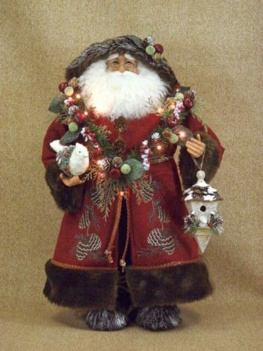 Santa claus collectible figurines woodland