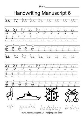 handwriting practice manuscript 6 handwriting manuscript handwriting practice handwriting. Black Bedroom Furniture Sets. Home Design Ideas