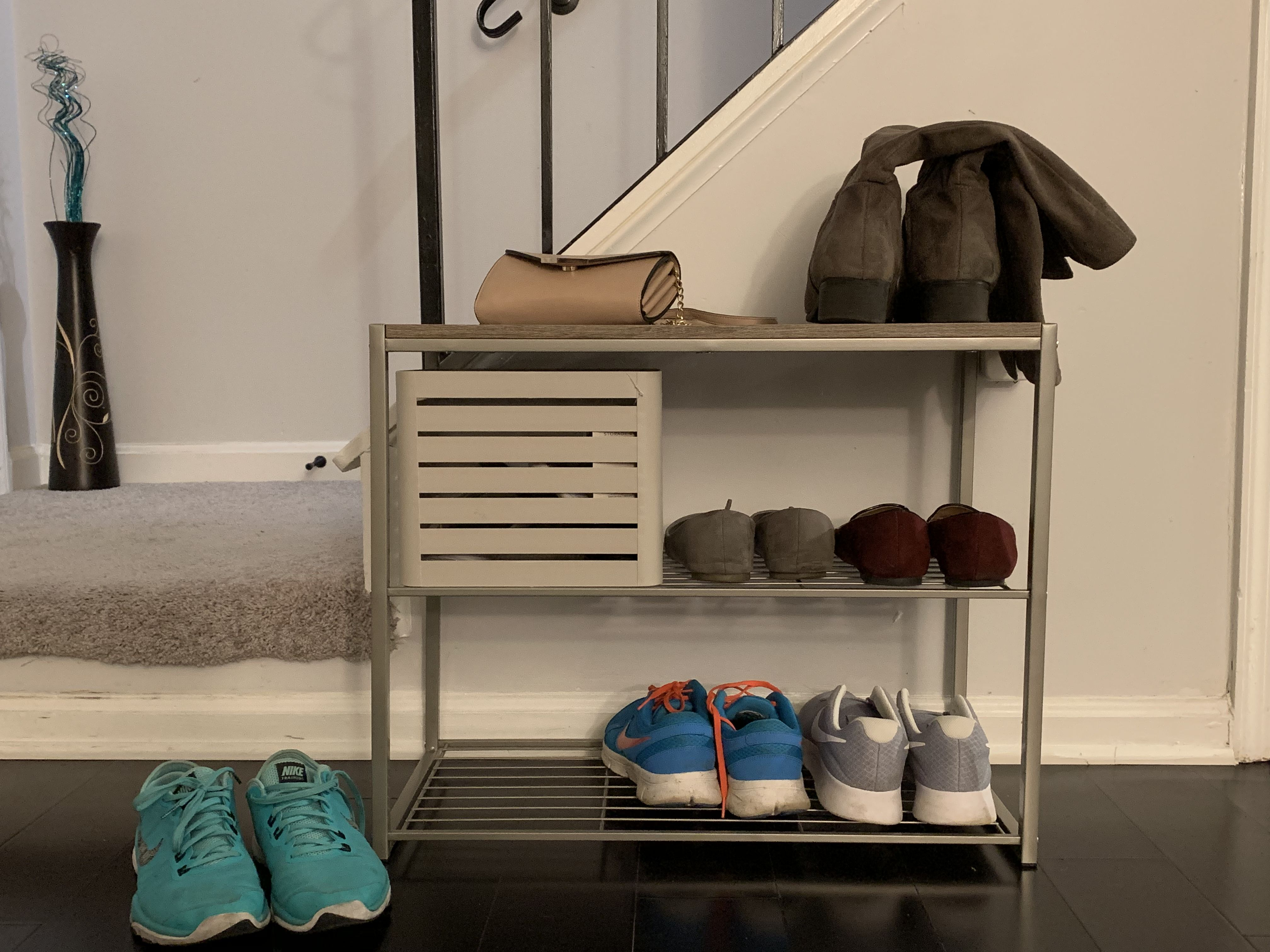 Shoe Cubby Target 3tiershoerack Gray Threshold Shoe Cubby